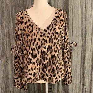 Lily rose cheetah print blouse